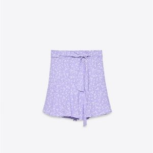 Zara printed skort